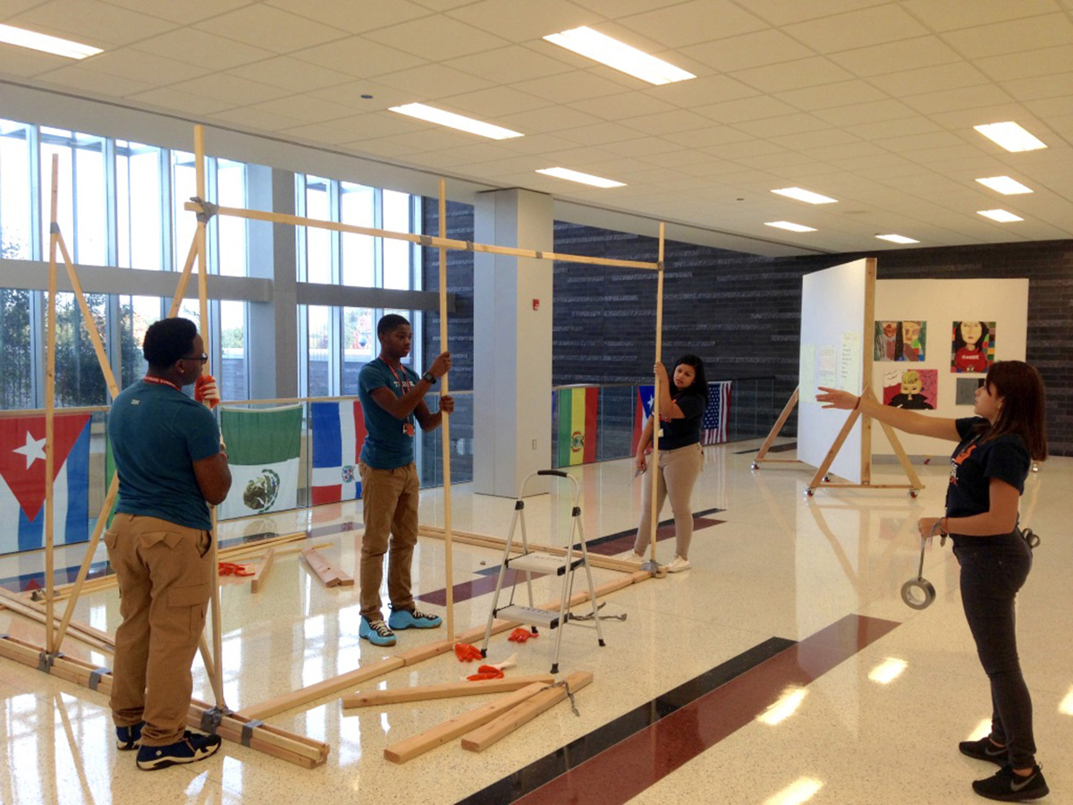 Turn Foyer Into Office : Teacher institute goode students turn foyer into space